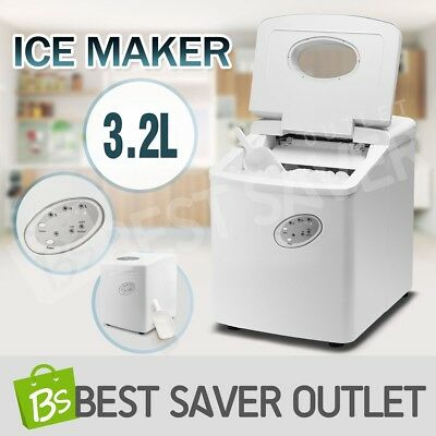 3.2L Cube Ice Maker Machine Portable w/ LCD Control Panel Home Easy Auto Snow WH