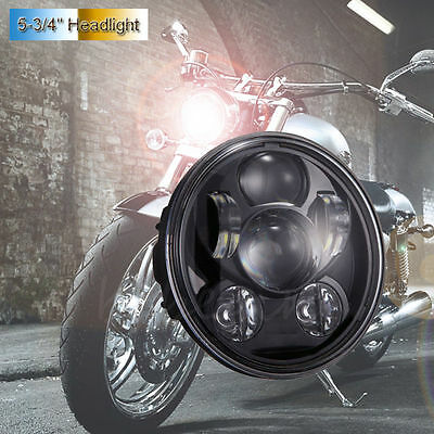 5.75'' Moto Phare Projecteur CREE Chips LED Lampe Headlight DRL Pour Harley Dyna