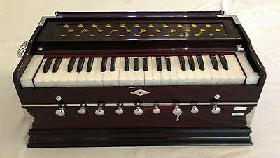 New-Indian-9-Stopper-Harmonium-Bass Male-Reed,lightweight/Reed 440 with Bag