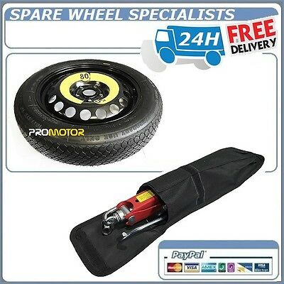 """Nissan Pulsar 16"""" Space Saver Spare Wheel + Lifting Jack ,wheel Brace Cover  New"""