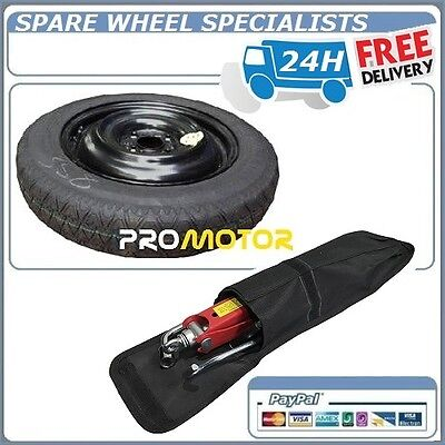 "Toyota Yaris 15"" Space Saver Spare Wheel + Lifting Jack ,wheel Brace Cover"