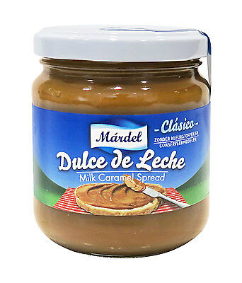 Dulce de Leche Mardel 250g glass jar - Produced in Spain
