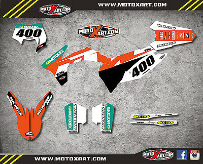 KTM EXC - XCF  2012 2013 RECKLESS style sticker kit / decals / graphics