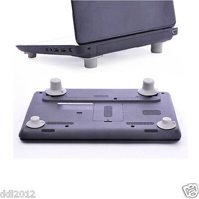 4pcs Notebook Accessory Laptop Heat Reduction Pad Cooling Feet Holder Stand Leg