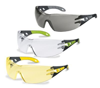 Uvex Pheos 9192 Wraparound Safety Spectacles Polycarbonate Sport Glasses Cycling