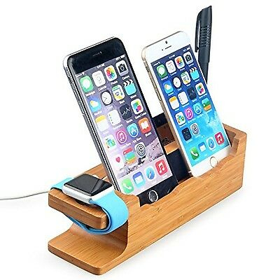 Hapurs Apple Watch Stand 2016 New Version iWatch Banboo Wood Charging Dock Ch...