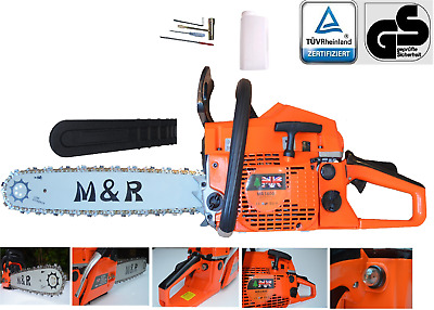 "Petrol Chainsaw 58cc 20""&16"" M&R BRAND Easy Start 2 Bars & 2 Chains"
