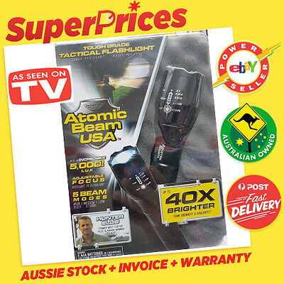 ATOMIC BEAM◉GENUINE◉FLASHLIGHT◉TORCH◉40 x Brighter◉5000 LUX◉AS SEEN ON TV◉US Mad