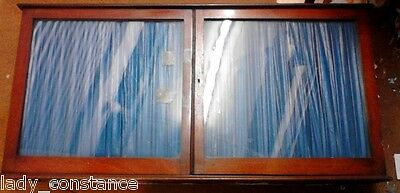 Antique glass fronted wall cupboard