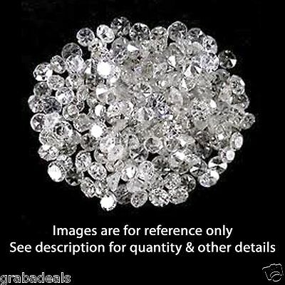 1 Ct REAL 100% NATURAL Loose 10 Round Diamonds Clarity-Si Color H-I White Color