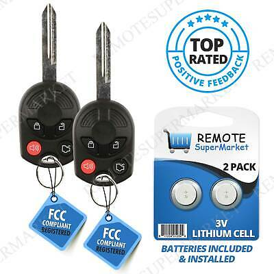 2 Replacement for Ford 2009-15 Flex 2006-10 Focus, Fusion Remote Key Fob 4b Oucd