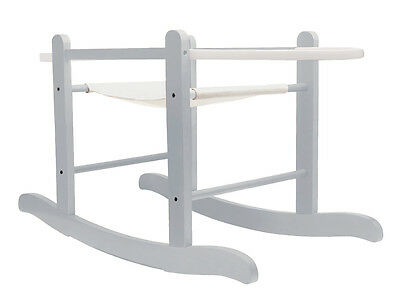 Deluxe Dove Grey Moses Basket Rocking Stand