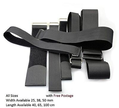 2 x Quality Velcro Adjustable Straps Metal Buckle Luggage Strap Width 25,38,50mm