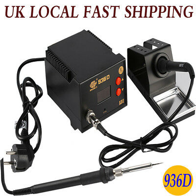 936D Constant Temperature Iron Soldering Station Welding 60W Esd Led Display Uk