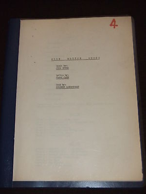 RARE 1949 High Button Shoes Broadway ORIGINAL Script OWNED BY EDDIE FOY JR III