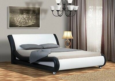 Omega Contemporary Design Double King Size Bed Frame Memory Mattress Optional