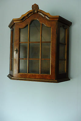 Antique Dutch wall Cabinet Hanging Cabinet in Mahogany wood