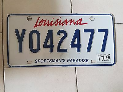 Plaque d immatriculation Louisiana Y042477 USA US License Plate