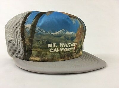 Vintage Mt. Whitney California Snapback Trucker Hat Cap Nature Forest Mountain