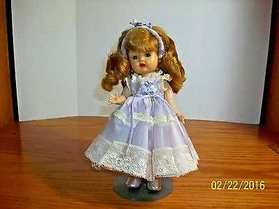 1950's Nancy Ann Storybook 8 inch SLW Muffie in Ginger Tagged Outfit