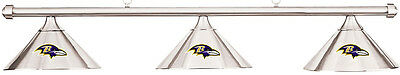 NFL Baltimore Ravens Chrome Shade & Chrome Bar Billiard Pool Table Light