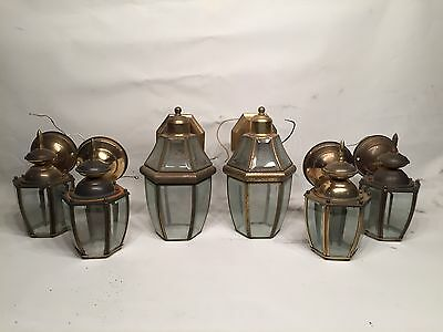 Set of six vintage outdoor wall lamps
