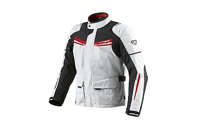 JET Mens White Textile Motorcycle Motorbike Jacket Waterproof CE Armoured