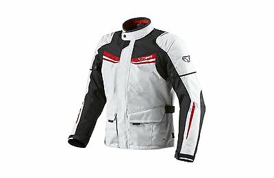 Mens White Textile Motorcycle Motorbike Jacket Waterproof CE Armoured
