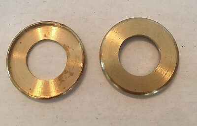 """Lot Of 2 New 1"""" Solid Brass Turned Check Ring Slips 1/4 Ips"""