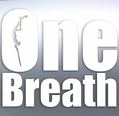 One Breath Spearfishing Diver car boat fishing scuba Vinyl Sticker scuba dive 1