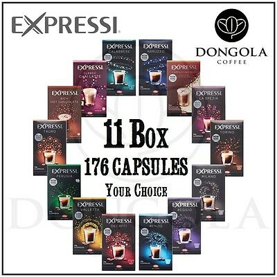 11 BOX (176) You Choose Expressi Automatic Coffee Machine Capsules Pods ALDI