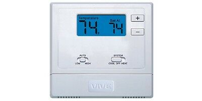 VIVE TP-N-631 Battery or Hardwired PTAC Digital Non-Programmable Thermostat