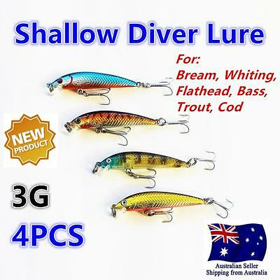 4X Like Fishing Bream Lure Lures 5.6cm 3g Whiting Flathead Bass Trout no.307