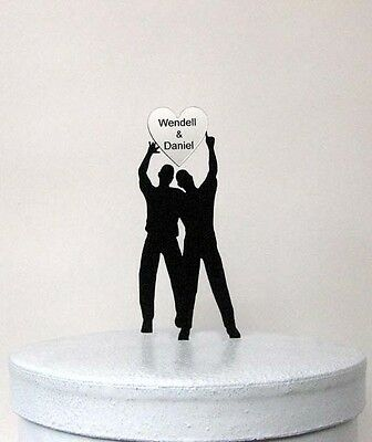 Personalized wedding cake topper - same sex wedding, gay wedding with your names