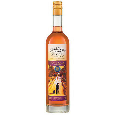 Hellyers Road Port Cask Matured 10 Year Old Single Malt Whisky 700mL