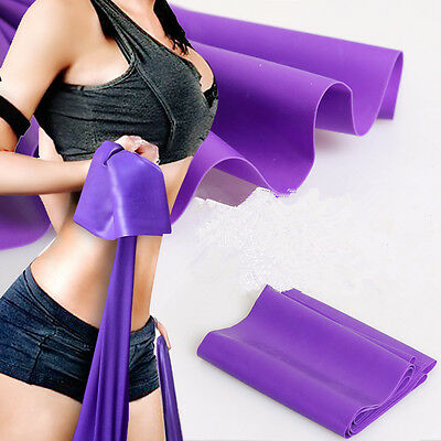 1.2m Elastic Yoga Pilates Rubber Stretch Resistance Exercise Fitness Band Belts
