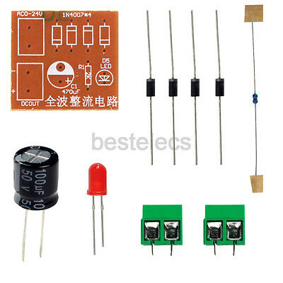 IN4007 Bridge Rectifier AC to DC Power Adapter Full-wave Rectifier 3V-18V