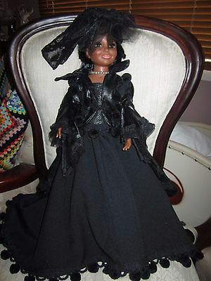 Vintage Ideal Tressy Crissy Doll Black Outfit only Handmade OOAK no doll