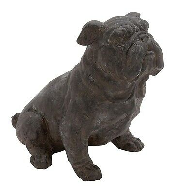 Vintage Antique Old Style Bulldog Sculpture Home Garden Outdoor Dog Statue Decor