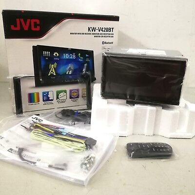 """JVC KW-V420BT Multimedia Receiver 7"""" WVGA Touch Panel Bluetooth Car Player"""