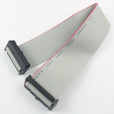 2Pcs 2.54mm Pitch 2x12 Pin 24 Pin 24 Wire Extension IDC Flat Ribbon Cable 30CM