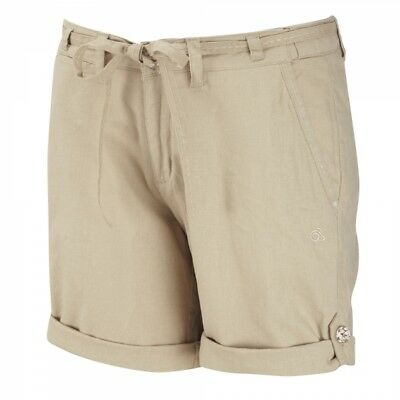 Craghoppers Womens Ladies Emilie Walking Hiking Shorts in Light Stone Beige