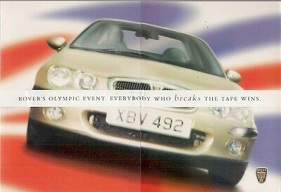 Rover 25 & 45 Olympic Limited Edition 2000 UK Market Foldout Sales Brochure
