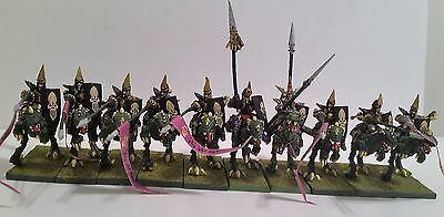 28mm Warhammer Fantasy Dark Elves Cold One Knights Painted x 10
