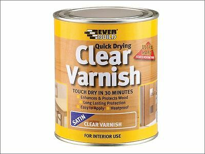 Everbuild - Quick Dry Wood Varnish Satin Clear 750ml