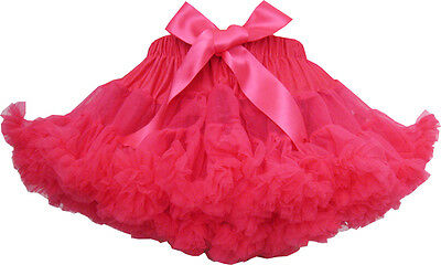 Girls Dress Tutu Dancing Skirt Party Pageant Hot Pink Children Clothes Size 2-10