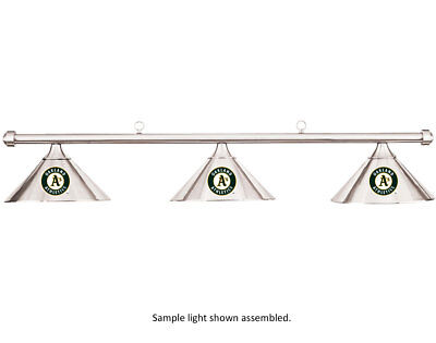 MLB Oakland A's Athletics Chrome Shade & Chrome Bar Billiard Pool Table Light