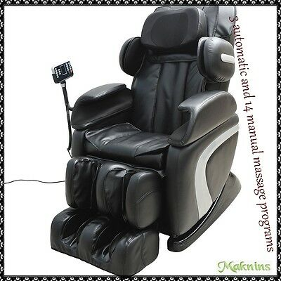 Home Cinema Leather Reclining Chair Full Body Massage Armchair Gaming Relaxing