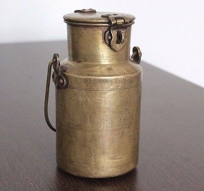 1900s Antique Beautiful HANDCRAFTED BRASS KITCHENWARE MILK POT/CONTAINER #442