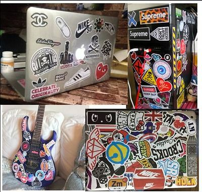 One A4 Page Luggage Stickers Pack Car Skateboard Guitar Fridge Decal Waterproof